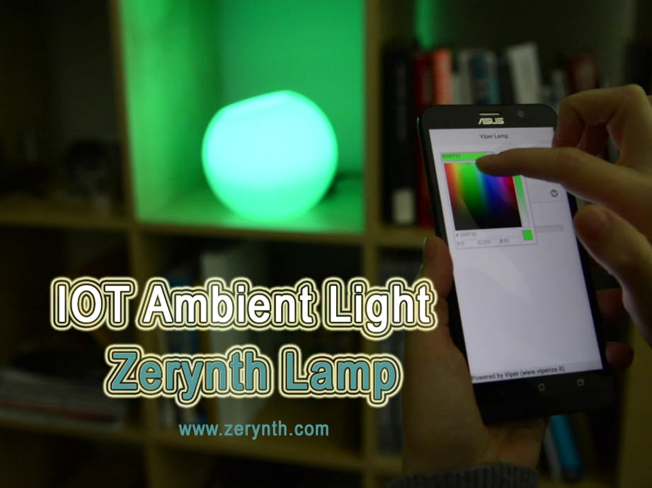 IoT Ambient Light: Zerynth Lamp - UDOO Projects
