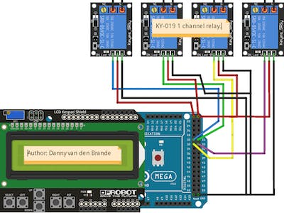 Arduino - LCD 1602A Keypad LCD Shield Relay Control