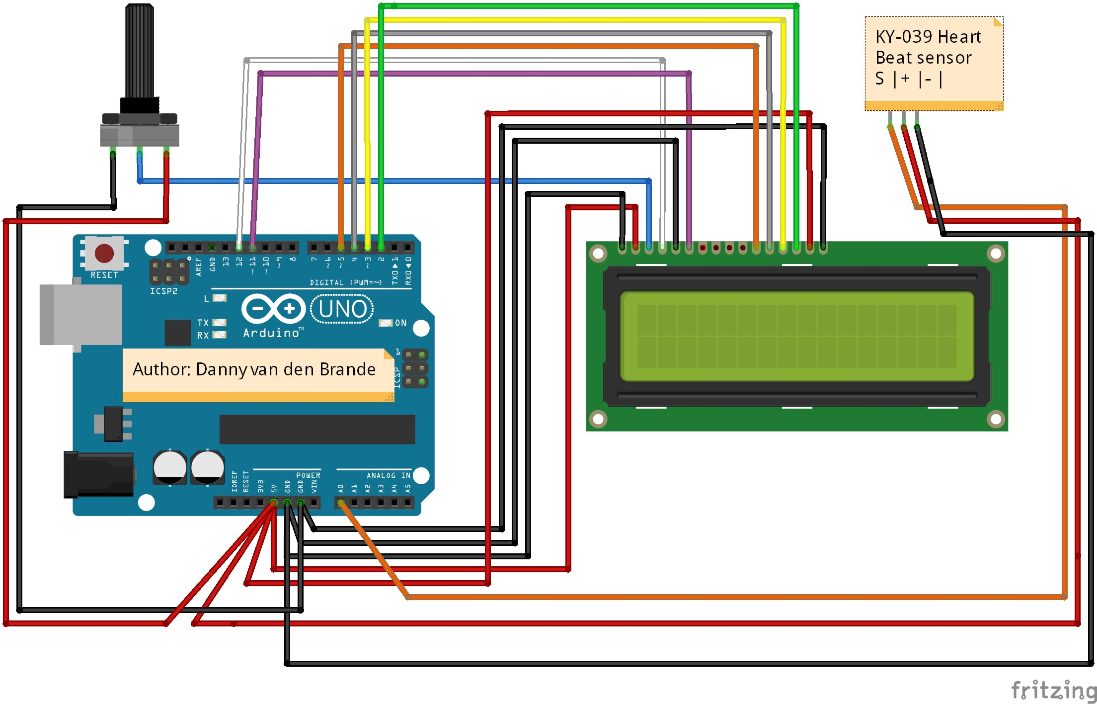 Arduino - Simple Heart Beat Monitor With LCD1602A Using t...
