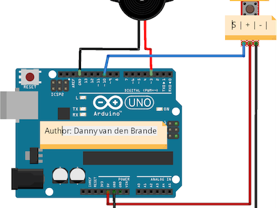Arduino - Button Example With the KY-004 -DOORBELL