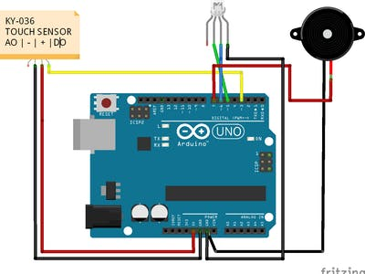 Arduino - Touch Sensor Switch Using The KY-036