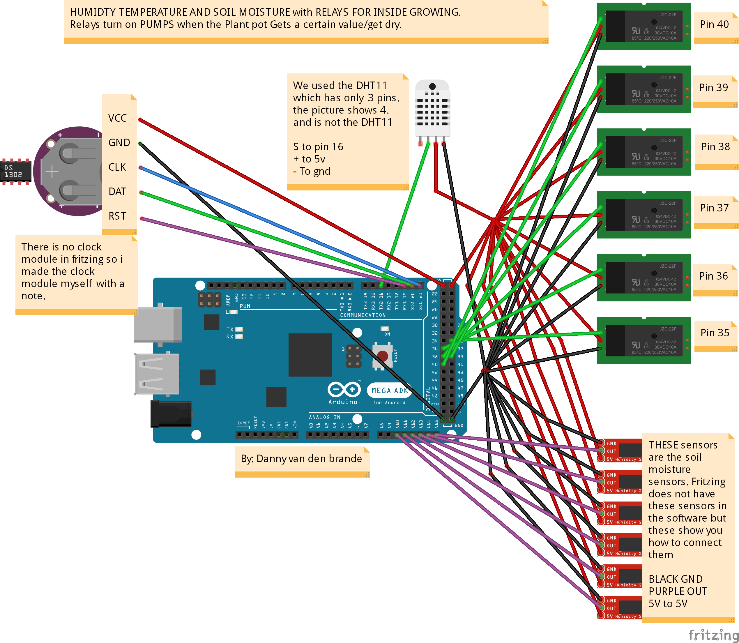 Arduino Plant Watering System With Tft Lcd Arduino