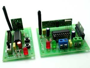 RF Remote DC Motor Direction Controller—Transceiver