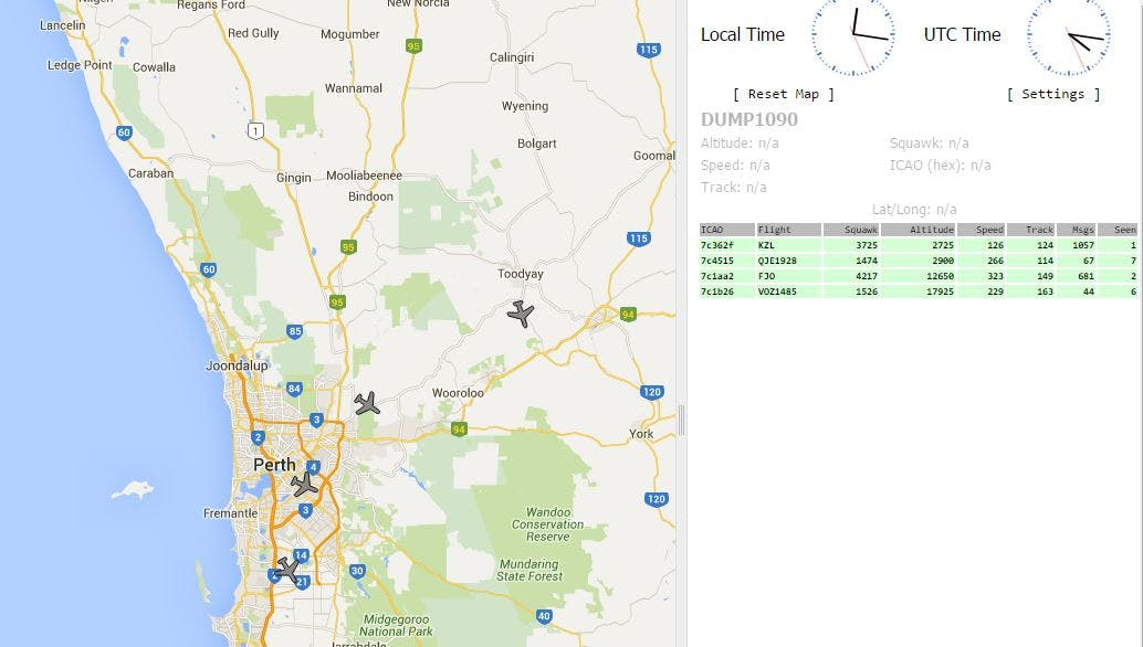 Tracking Aircraft with a RPi