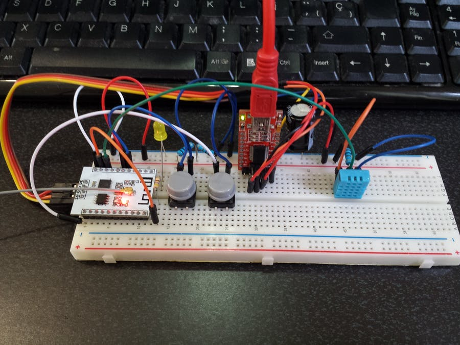 ESP-201 (ESP8266) Temperature & Humidity Web Server