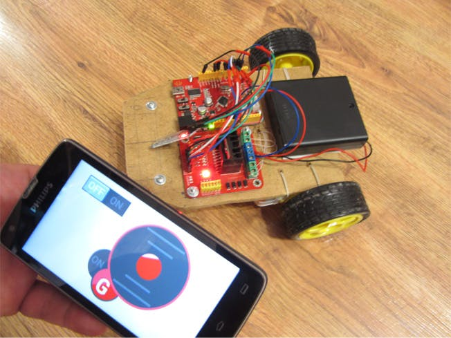 Robotcar Controlled Using G-Sensor Smartphone
