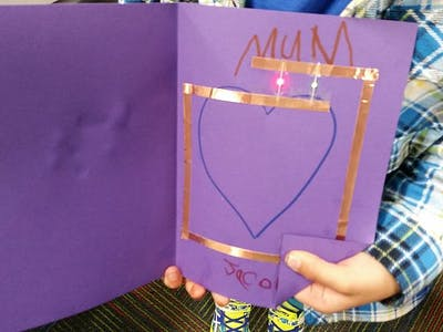 Making Simple Paper Circuit Cards