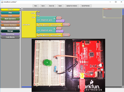 Learns or Teaches Arduino without any Line of Code #1