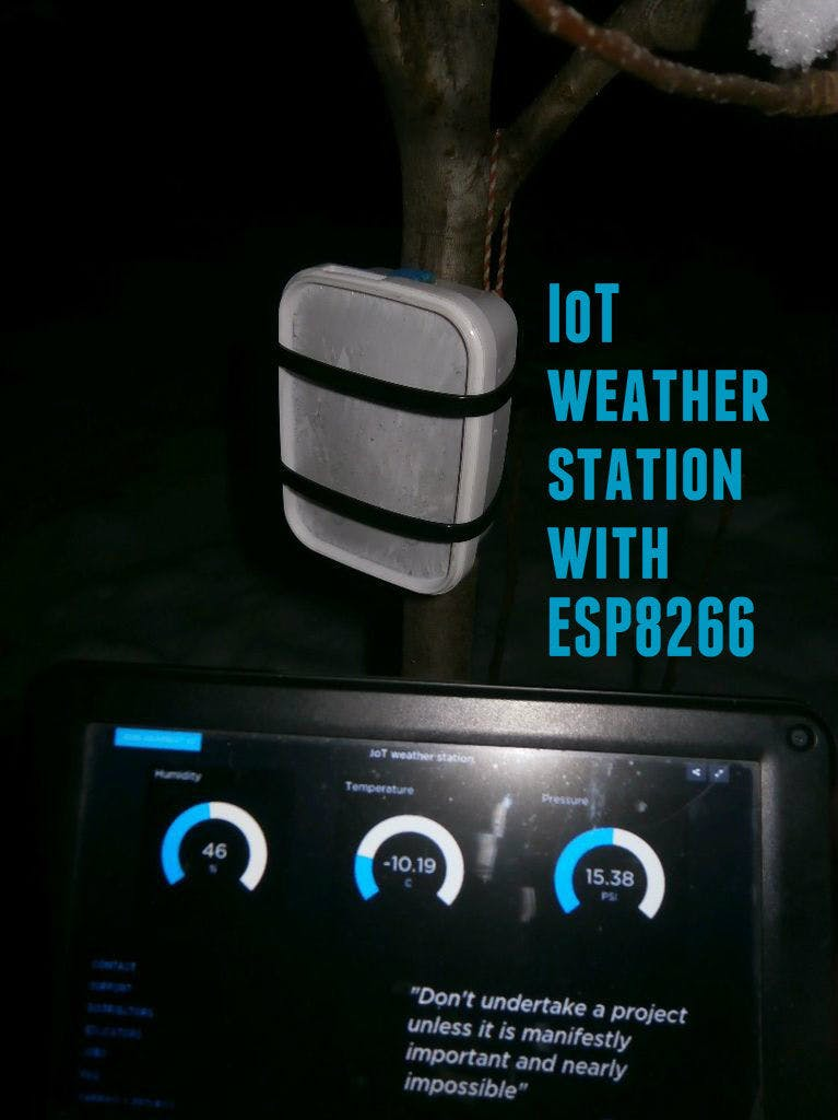 IoT Weather Station with Adafruit Huzzah