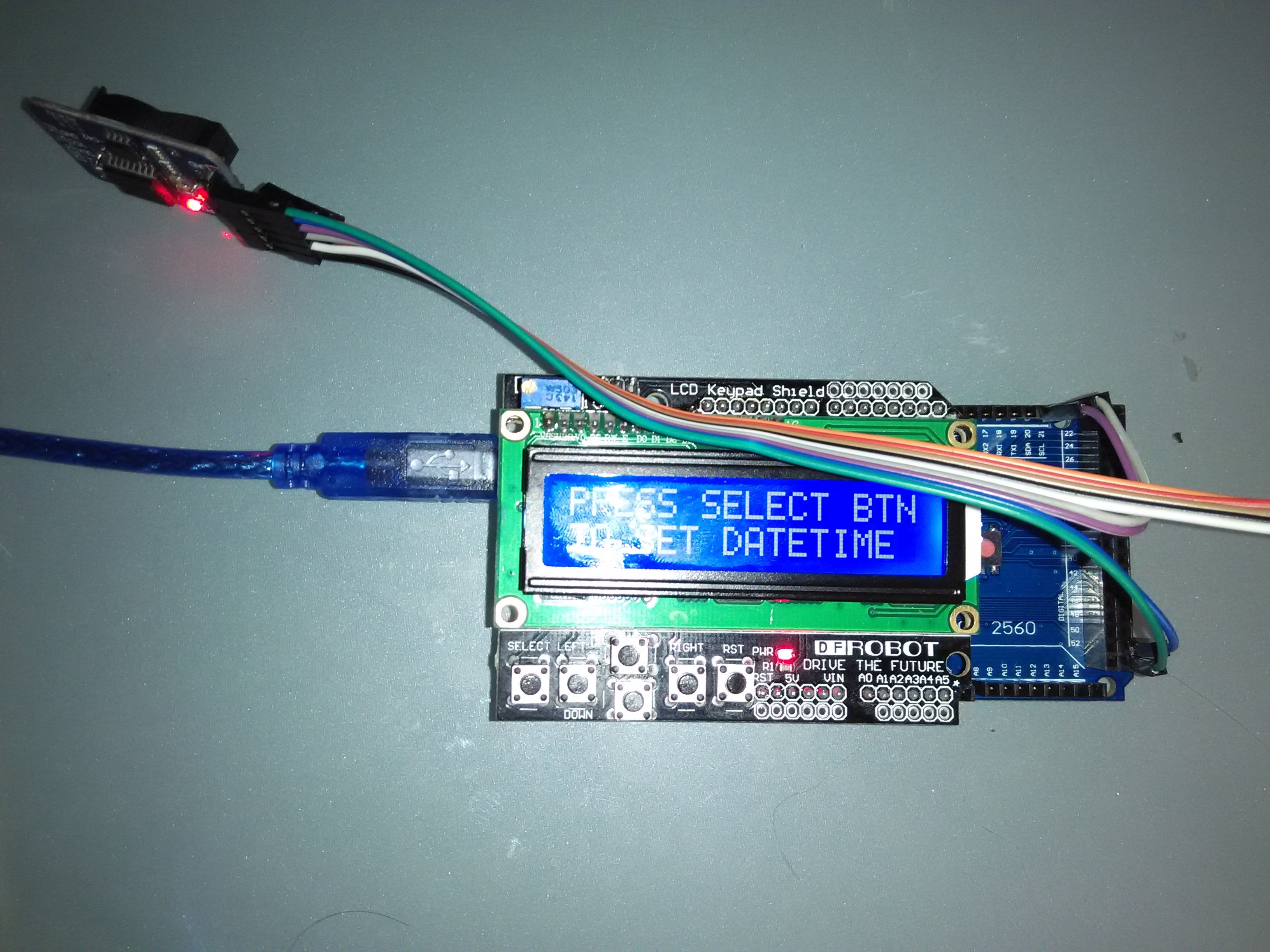 LCD with DS3231 Real Time Clock Module