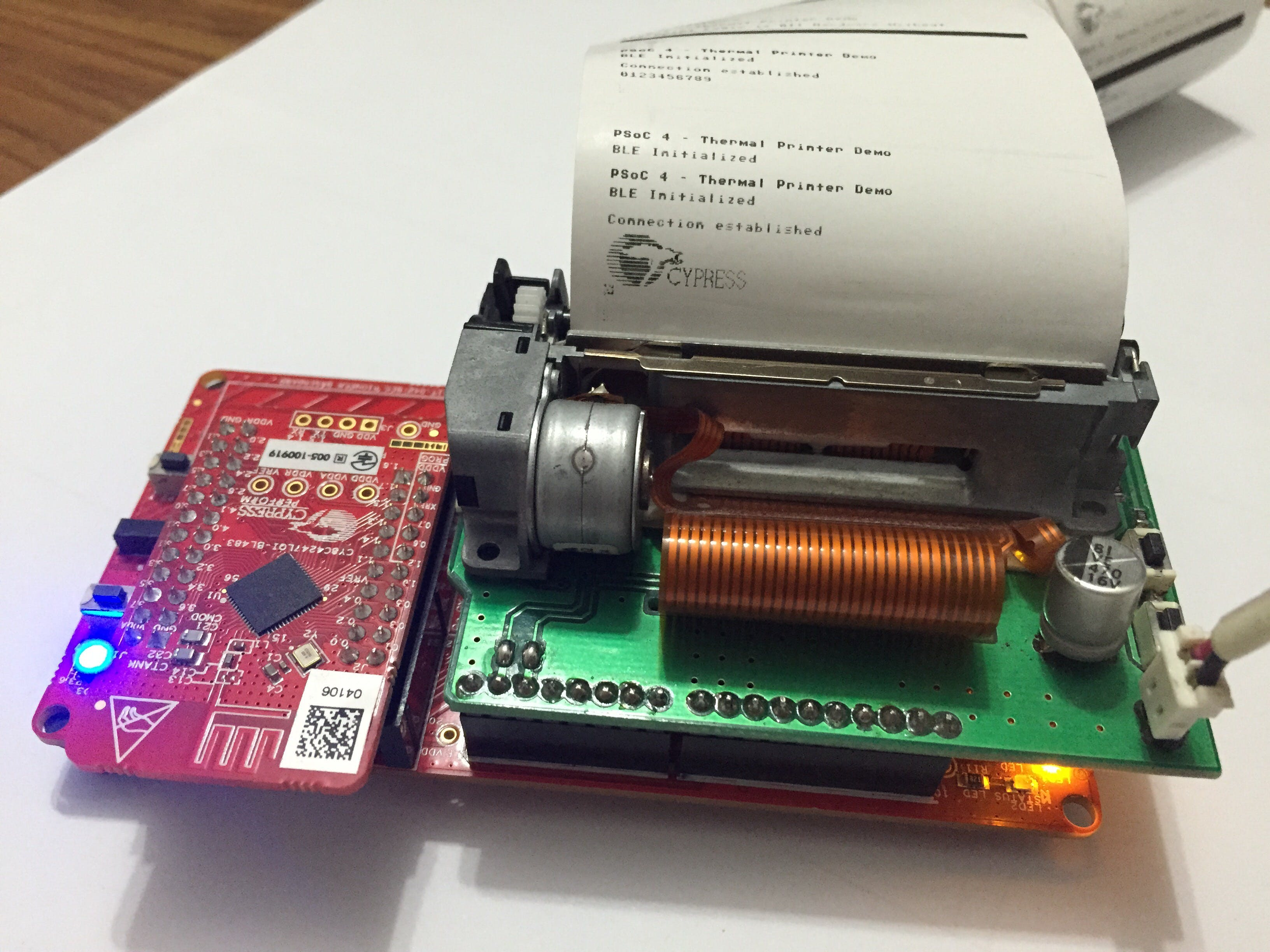 PSoC 4 BLE Thermal Printer