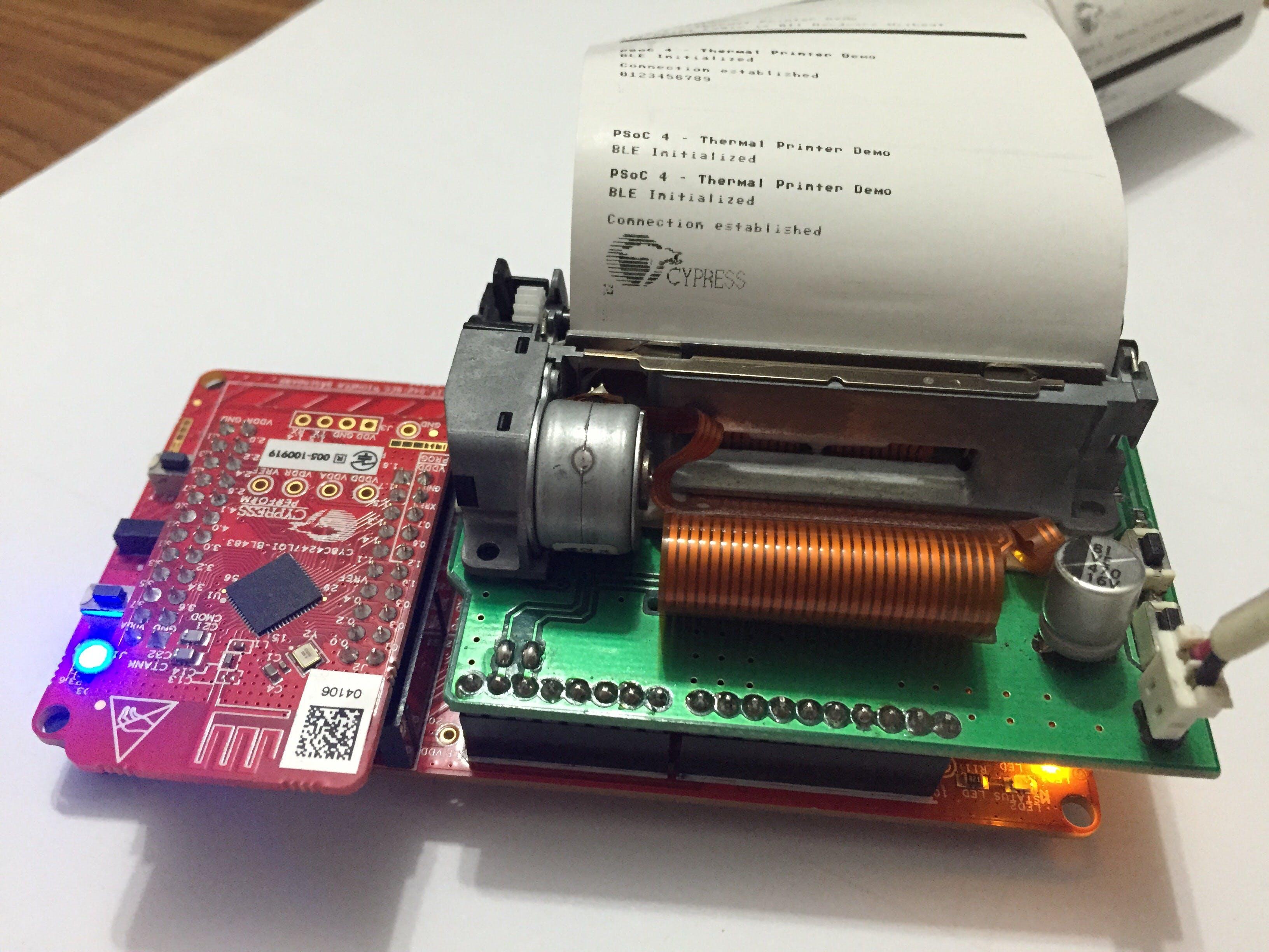 PSoC 4 BLE Thermal Printer