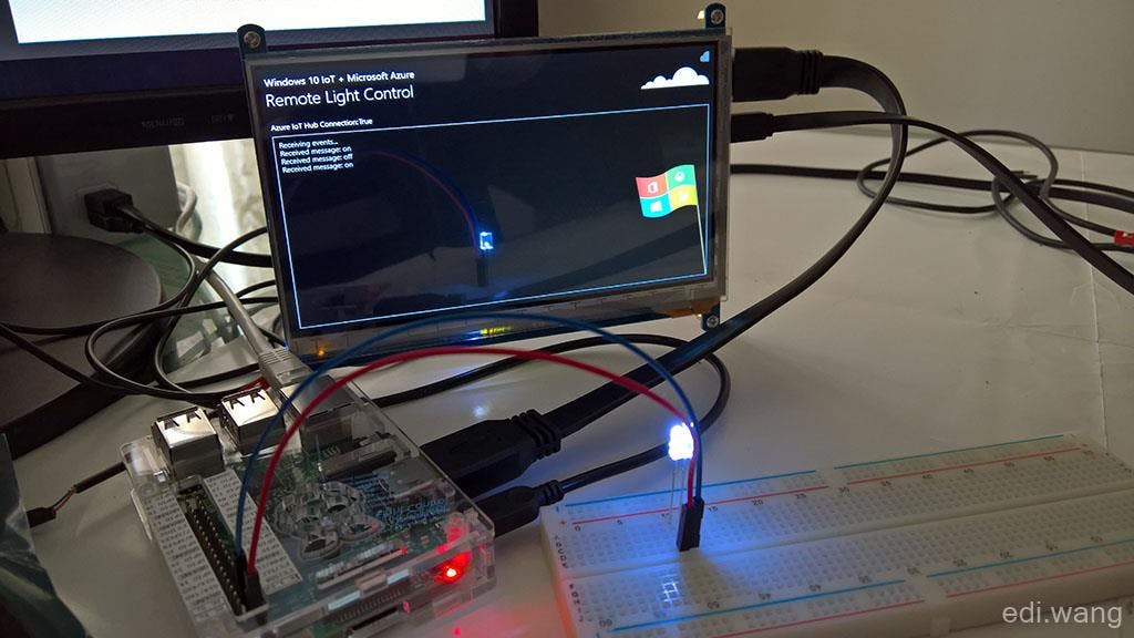 Azure Remote Controlled Light with Windows 10 IoT Core