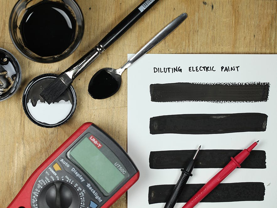 A quick tutorial on diluting Electric Paint