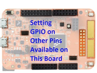Setting Up GPIO, PWM, I2C for K82 Freedom Board in KDS