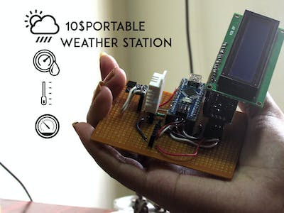 $10 Portable Arduino Weather Station (AWS)