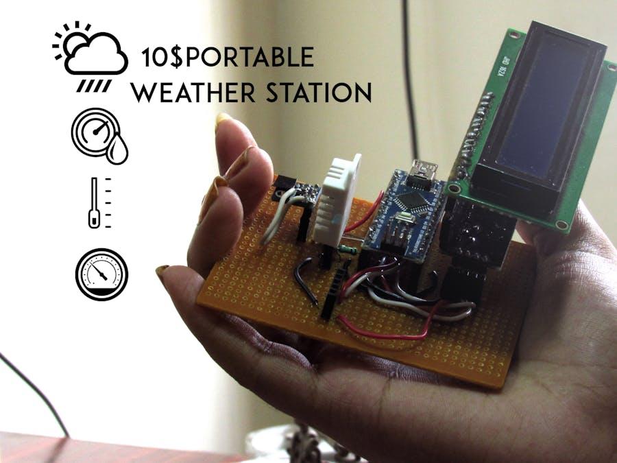 $10 Portable Arduino Weather Station (AWS)