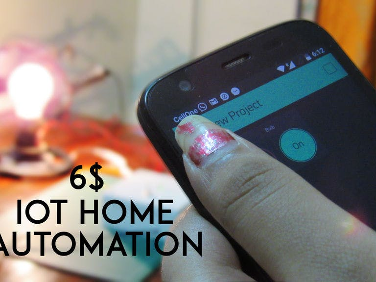 Control Home Appliances with Phone and Internet of Things