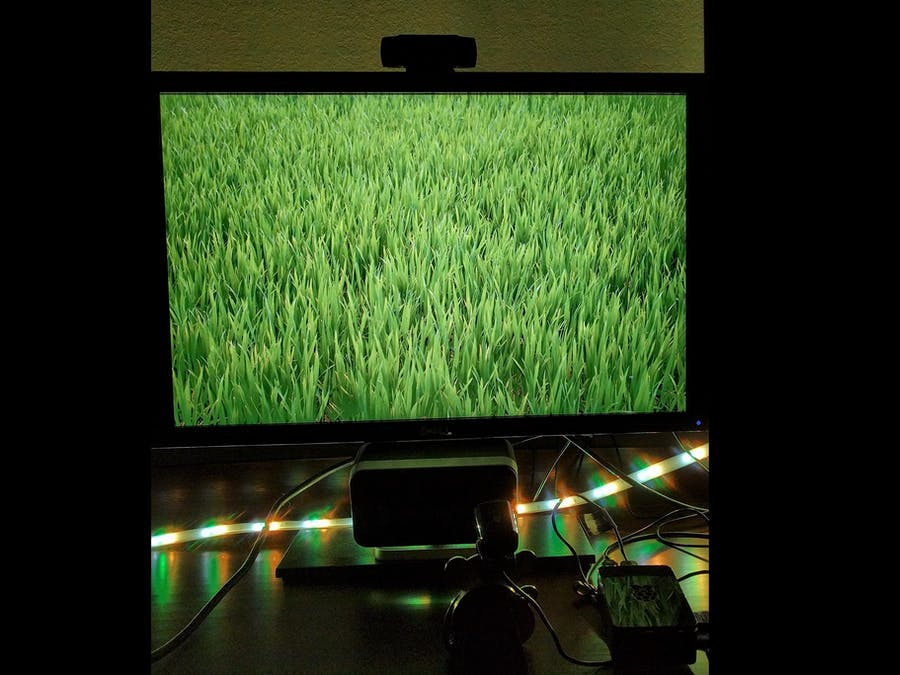 Phillips Hue Ambient Light Synced to a TV