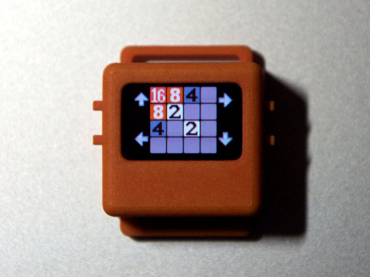 2048 Sliding Tile Game for the O Watch