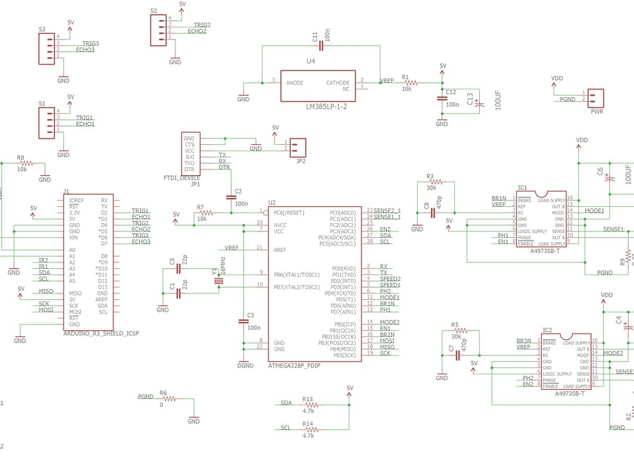 Arduino 2WD Smartcar Motor and Sensors Shield