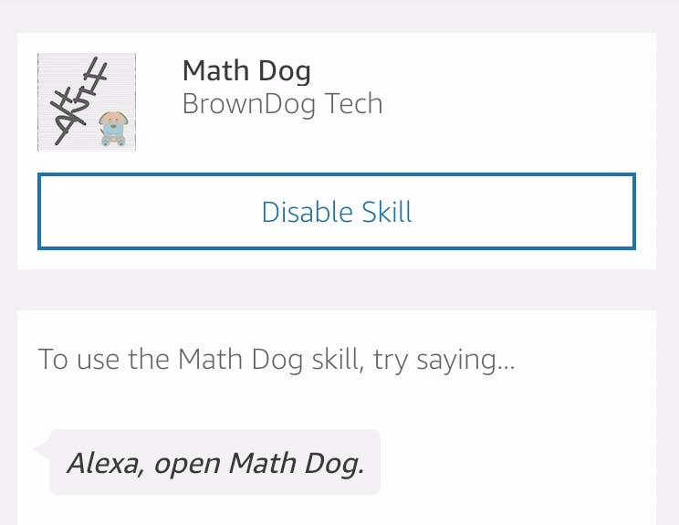 Practice with Math Dog on Alexa