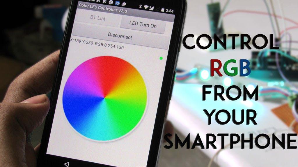 SmartPhone Controlled RGB MOOD Light