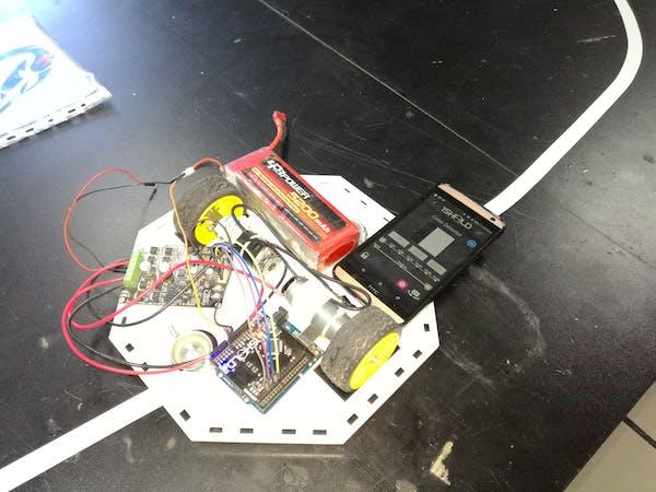 Line follower robot using arduino sheeld hackster