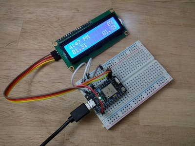 Photon Powered LCD Forecast and Time Display