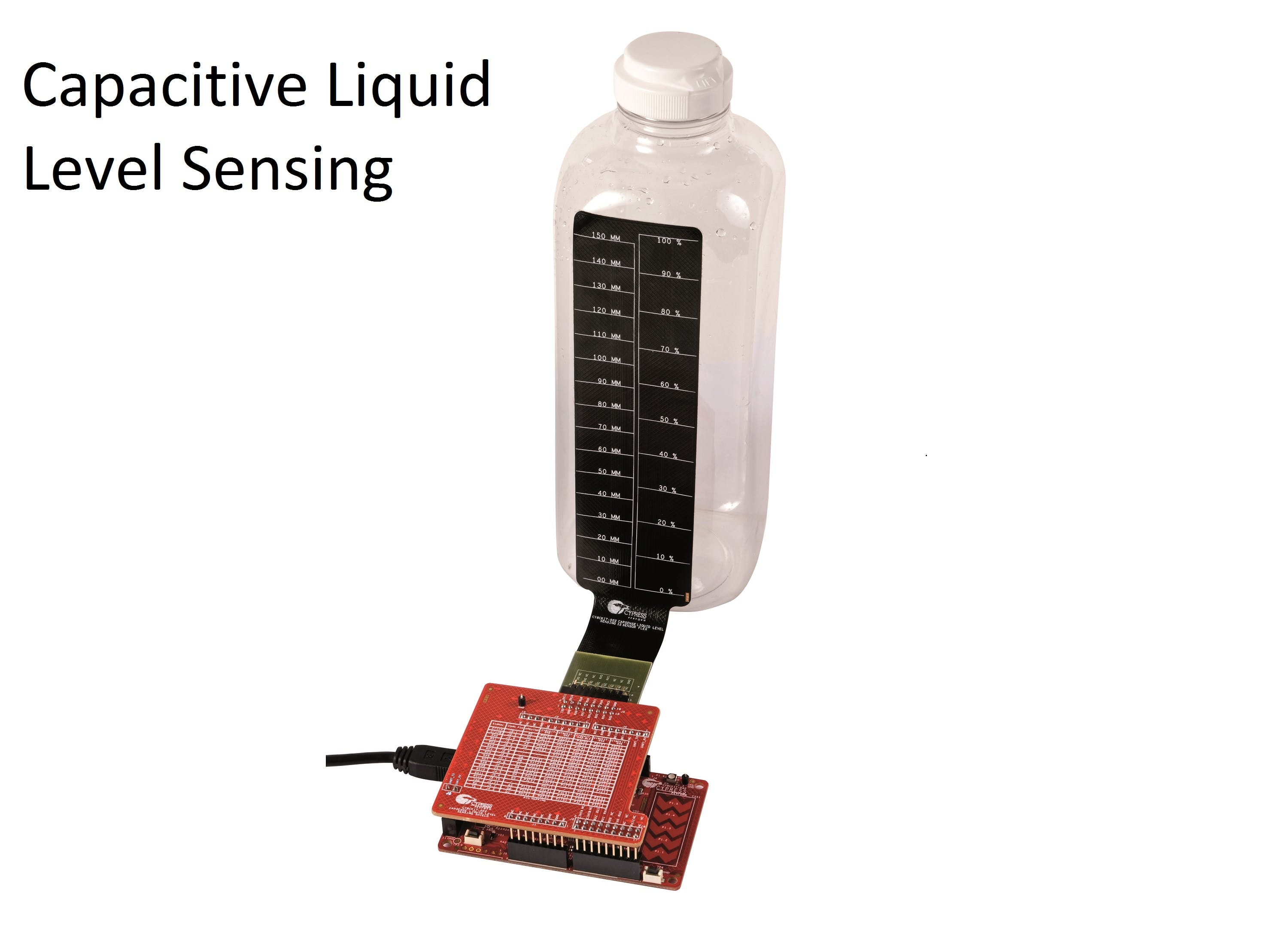 Contactless Liquid Level Sensing using CapSense