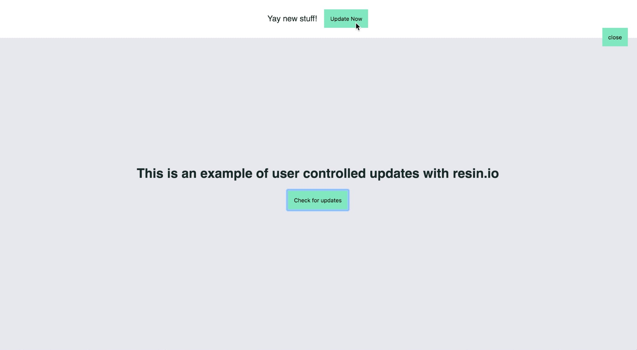 End-User Controlled Updates