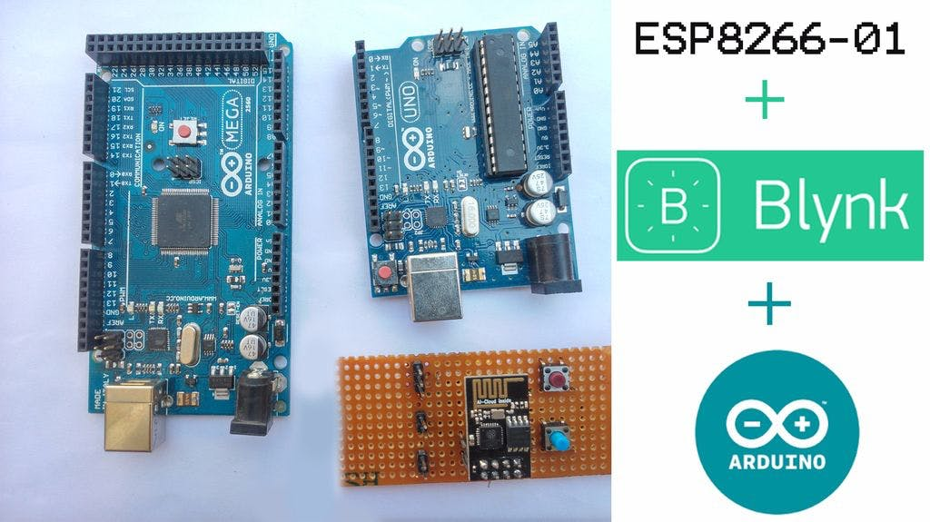 Connecting ESP8266-01 to Arduino UNO/MEGA and BLYNK