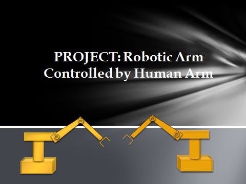Robotic Arm Controlled By Human Arm Arduino Project Hub