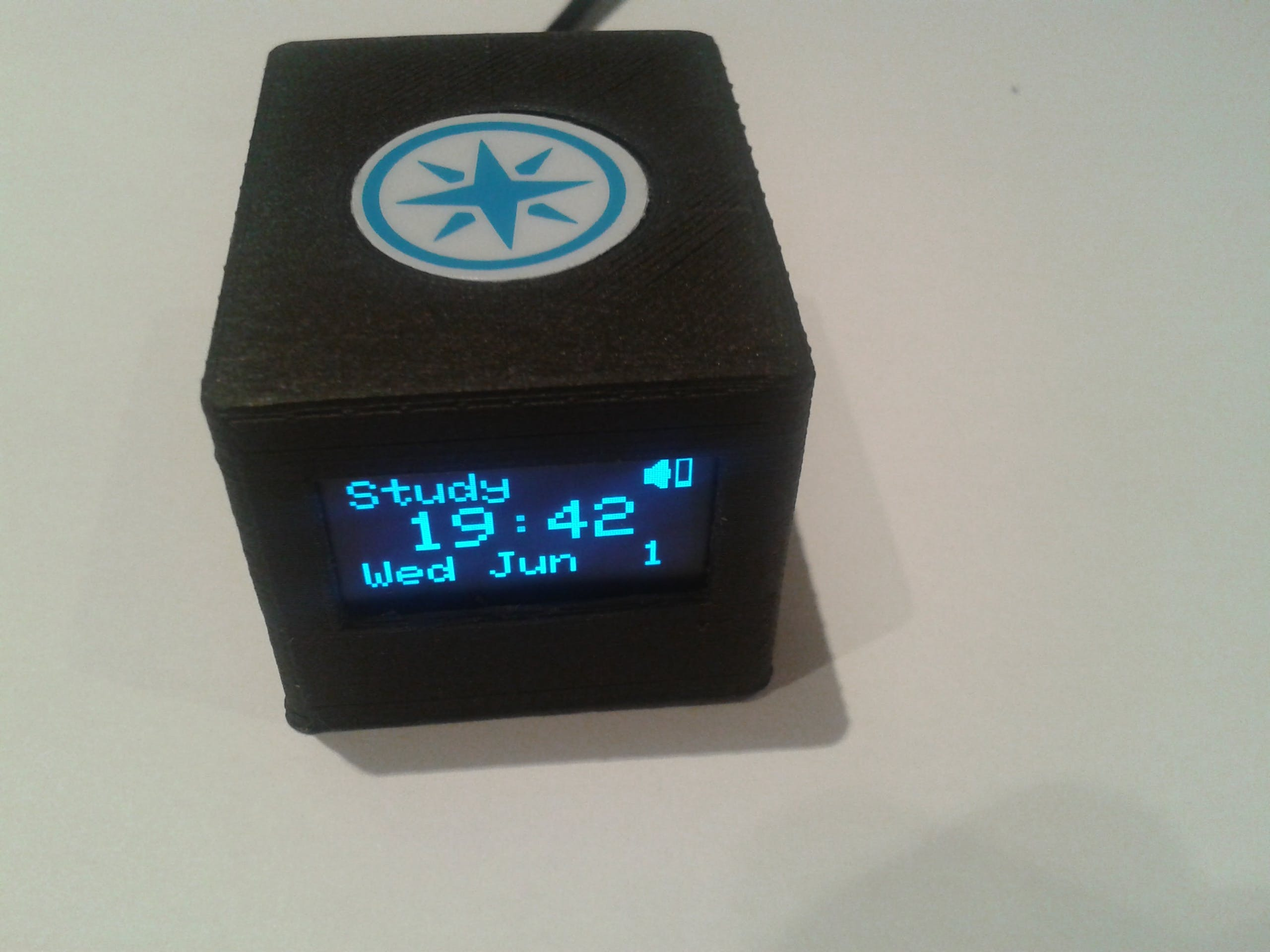 3D Printed Enclosure for Photon with OLED 1306 display