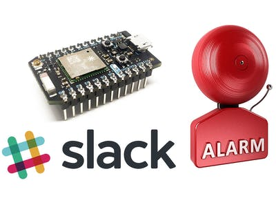 Particle Photon & Slack Silent Webhook Alarm