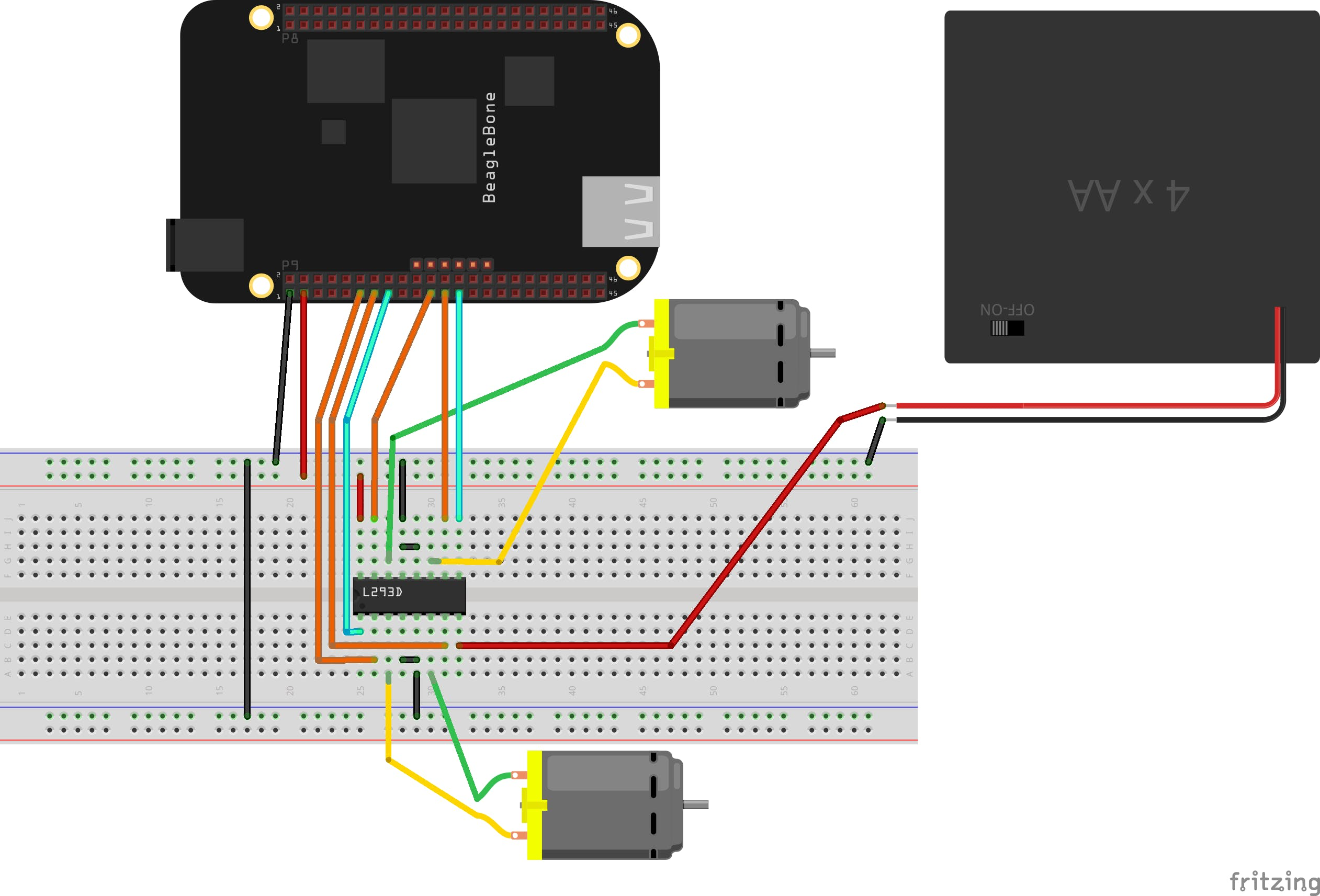 Controlling a Motor with an H-Bridge