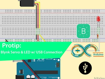 IoT Servo & LED with Blynk and a USB Connection