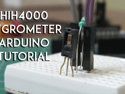 HIH4000 Humidity, Hygrometer Sensor Tutorial