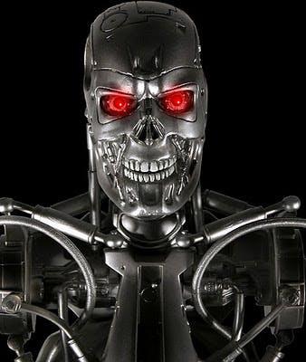3D printed Terminator IoT robot head