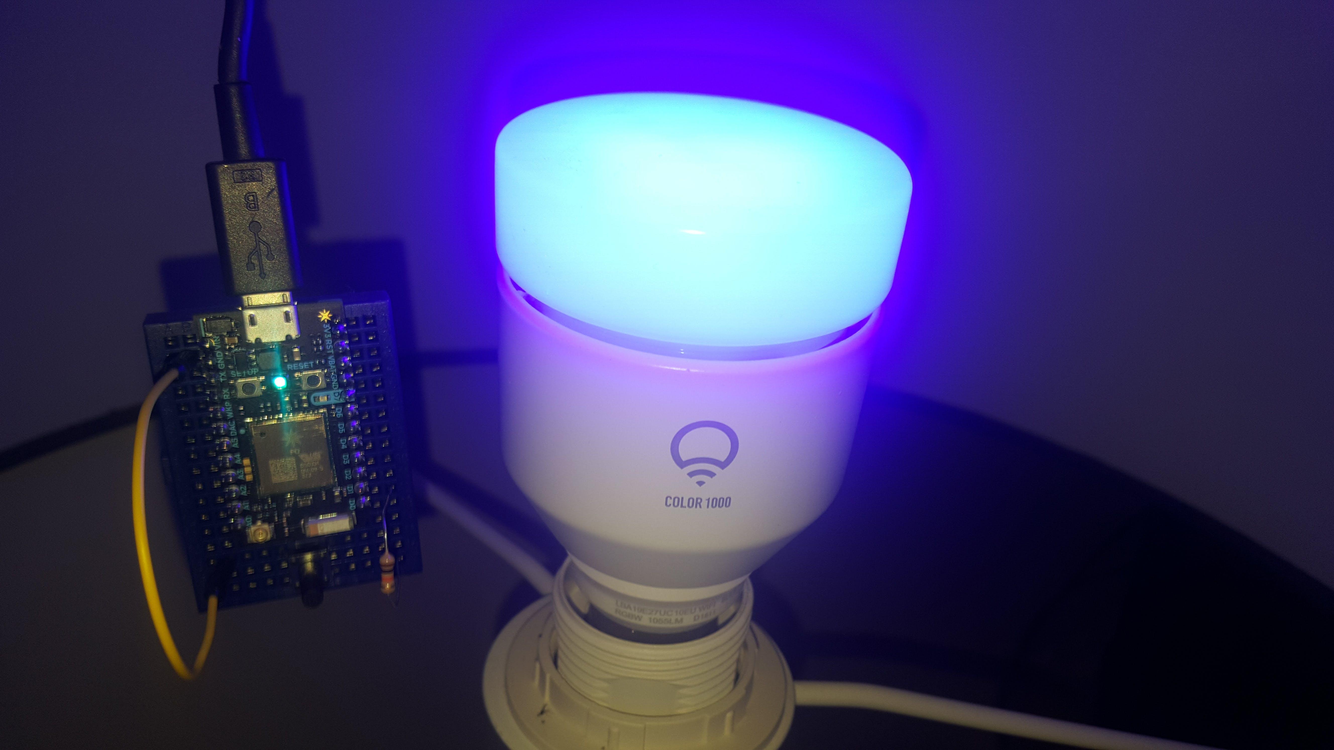 Particle Photon and LIFX Bulb (using Webhooks)