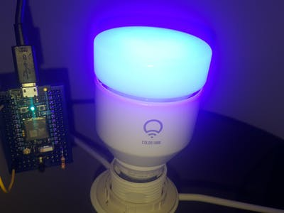 Particle Photon and LIFX Bulb (using Webhooks)