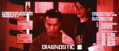 Terminator H.U.D. mirror