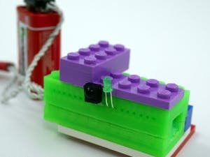 3D Printed LEGO Compatible Arduino Micro Casing