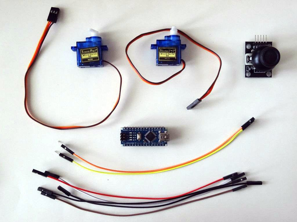 Arduino and Visuino: Control Servos with A Joystick