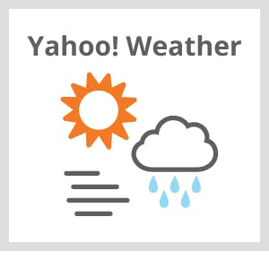 Get local weather from Yahoo! with Temboo