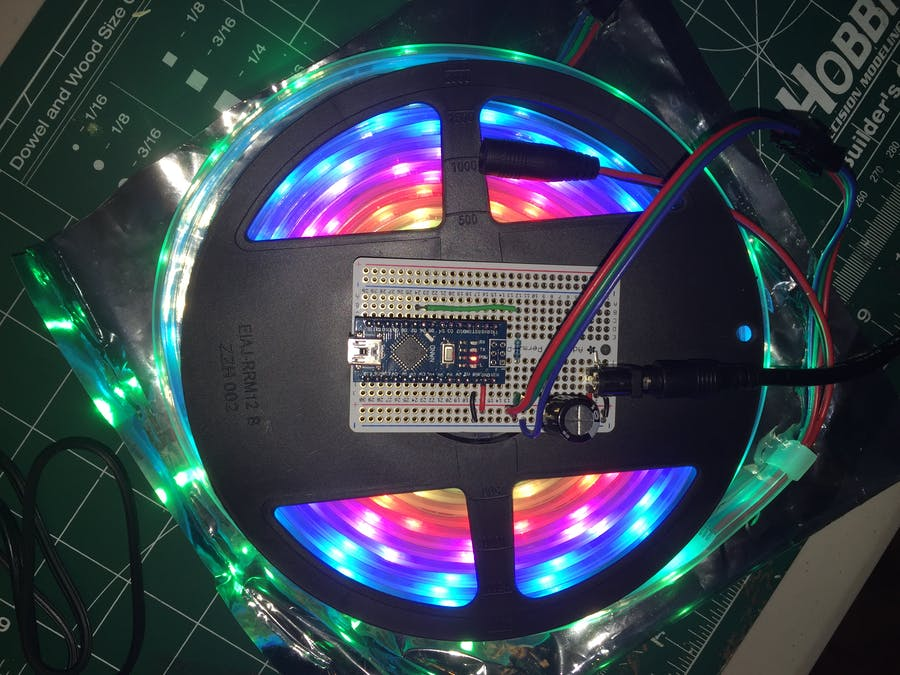 Arduino Compatible Nano NeoPixel Controller