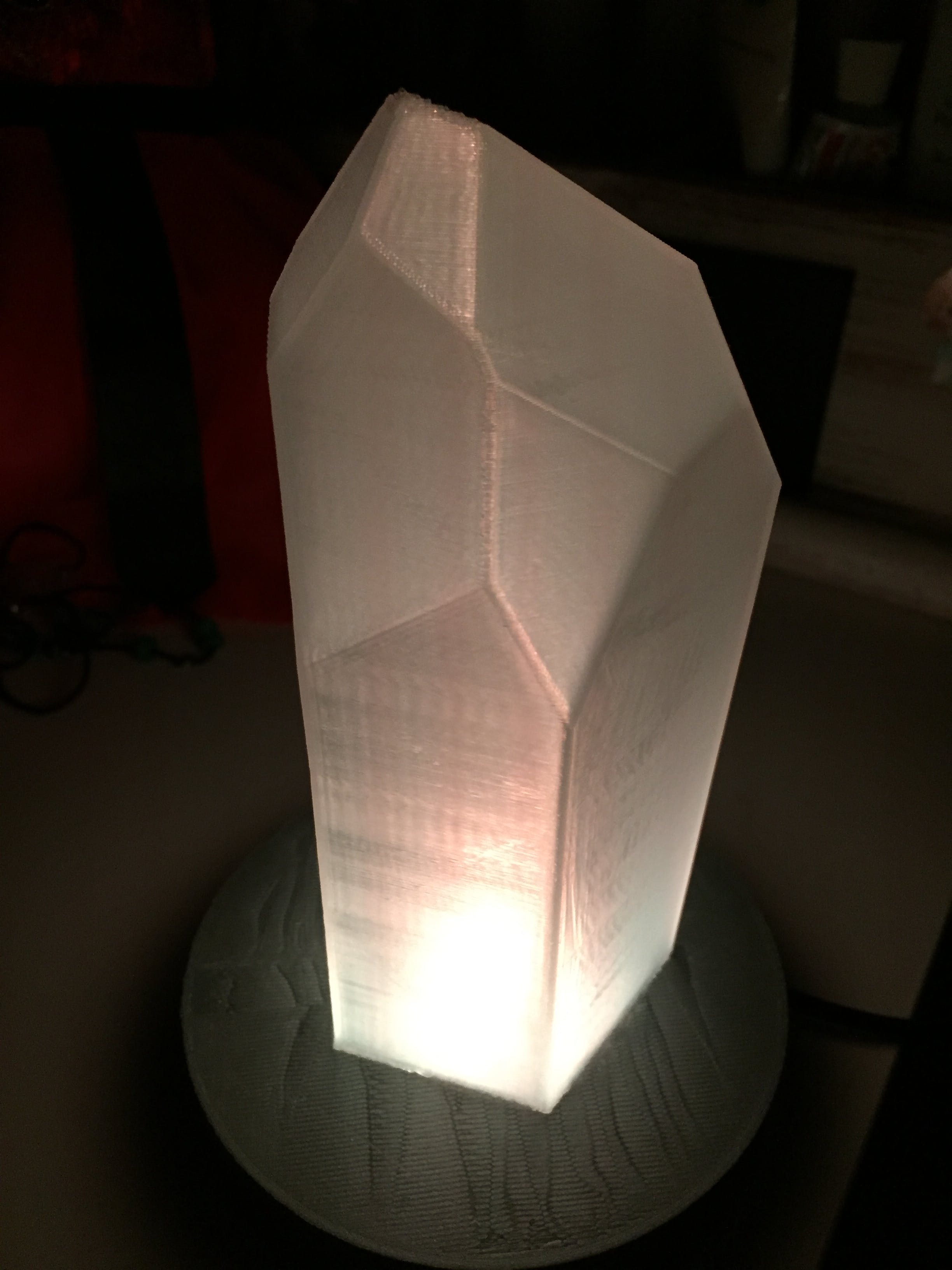 Quartz Crystal NeoPixel LED Candle for Particle Photon