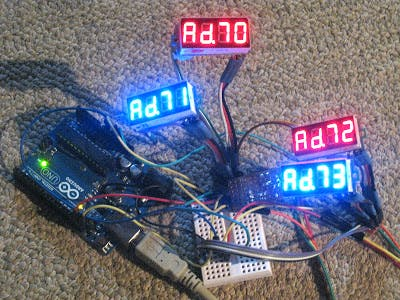 I2C LED Display From Hacked Voltmeter