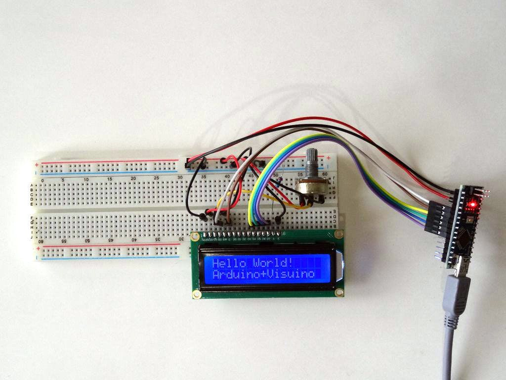 Arduino and Visuino: Directly connected 2 X 16 LCD Display