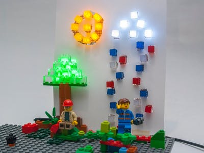Lego-Compatible LED Weather Tracker